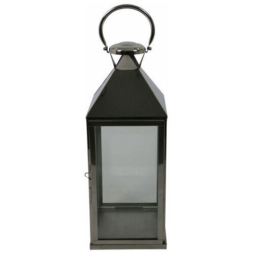 PFLANZEN KÖLLE Laterne, silber, Glas, Edelstahl B24 L24 H68