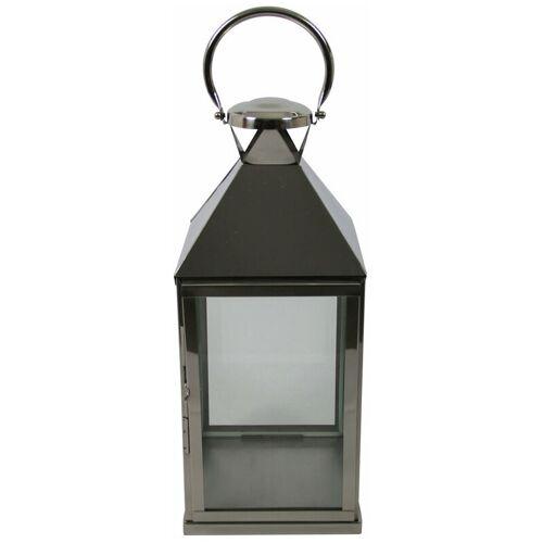 PFLANZEN KÖLLE Laterne, silber, Glas, Edelstahl B24 L24 H58