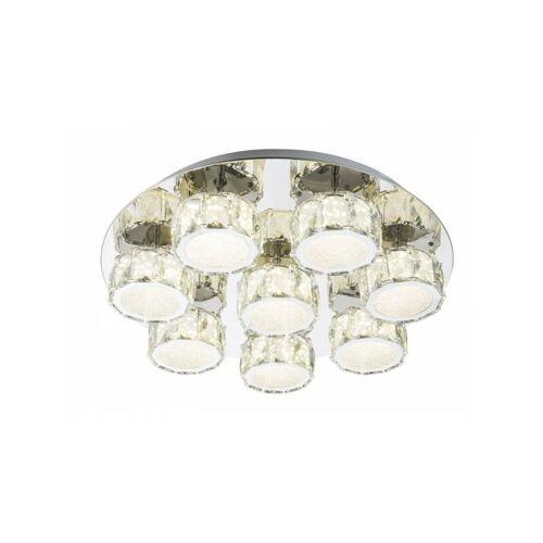 GLOBO Deckenleuchte Deckenlampe dimmbar K5-Kristalle LED rund