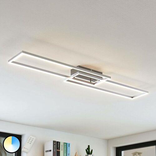 Lampenwelt - LED-Deckenleuchte Quadra, dimmbar, 2-flg., 110 cm