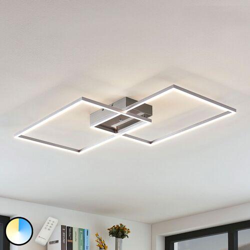 LAMPENWELT LED-Deckenleuchte Quadra, dimmbar, 2-flg., 75 cm - LAMPENWELT