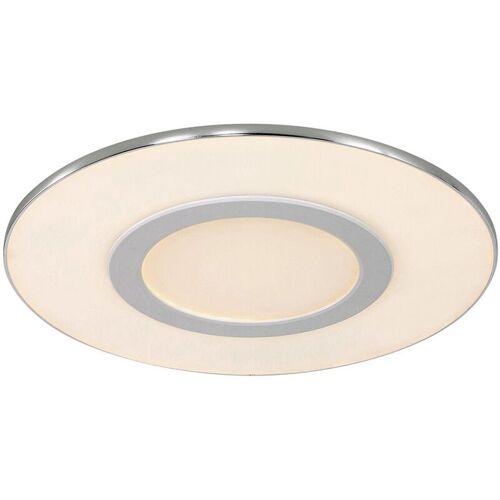 STEINHAUER LED Deckenleuchte in Weiß und Chrom 20W 1640lm