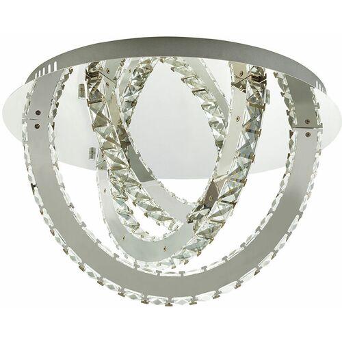 GLOBO LED Decken Lampe Chrom Leuchte Kristalle Dimmbar Wohn Ess Zimmer