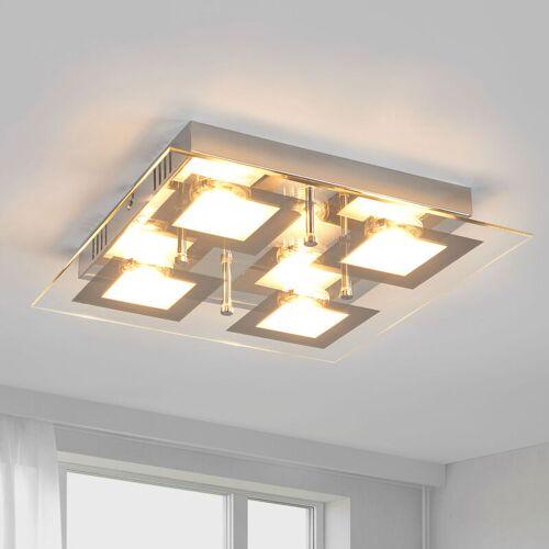 LINDBY Quadratische LED-Küchenlampe Manja