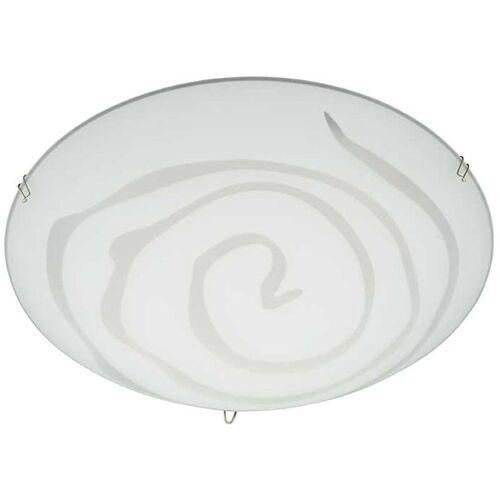 BRILONER LED Deckenleuchte Prisma Deko 3287-016 Wohnraumlampe Glas Weiß 12 Watt