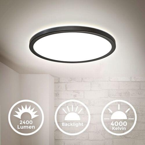 B.K.LICHT LED Deckenleuchte ultraflach Panel Deckenlampe indirektes Licht Flur