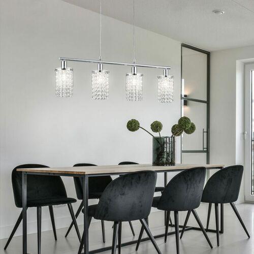 ETC-SHOP Kristall Decken Pendel Lampe Wohn Ess Zimmer Beleuchtung Hänge Lampe im