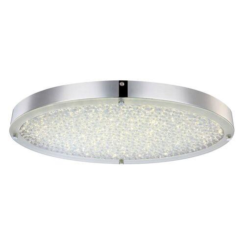 GLOBO LED Deckenlampe Deckenleuchte Glas Kristalle Chrom D 45 cm Wohnzimmer