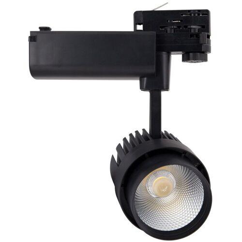 Ledkia - LED-Strahler Dora 30W Schwarz für 3-Phasestromschienen