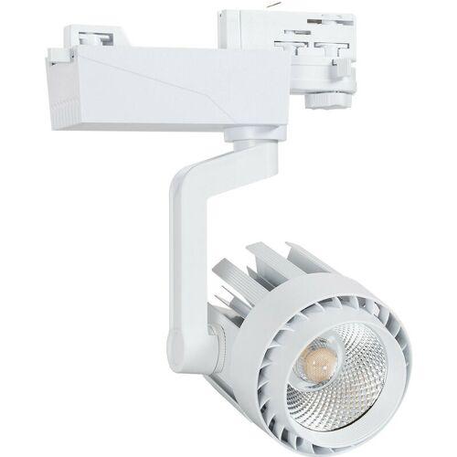 Ledkia - LED Strahler Dora 30W Weiß für 3-Phasen-Stromschienen Warmes