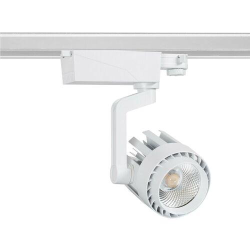 Ledkia - LED Strahler Dora 30W Weiß für 3-Phasen-Stromschienen Kaltes