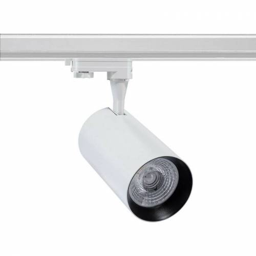 Ledkia - LED-Strahler Vulcan Weiss 30W für 3-Phasenstromschienen