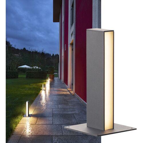 SLV - LED Wegeleuchte H-Pol, 3000 K, anthrazit, zweiflammig, 360 mm