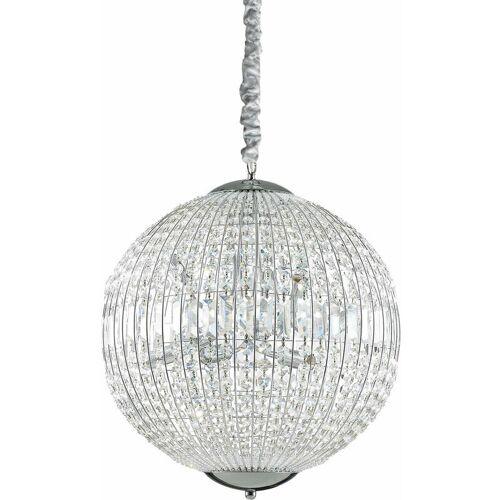 01-IDEAL LUX LUXOR Kristall Chrom Anhänger 8 Lichter