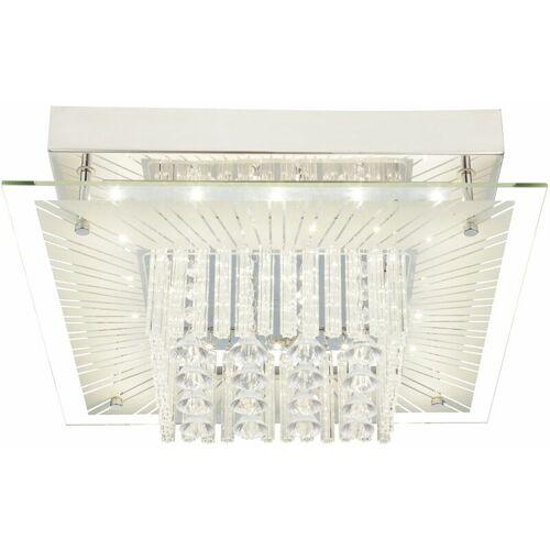 GLOBO Design LED Decken Lampe Schlafzimmer Glas Kristall Behang Leuchte EEK A