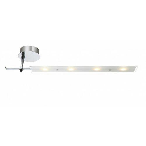 GLOBO Moderne 20W LED Decken Leuchte Lampe Treppenhaus Chrom Glas GOLDIE