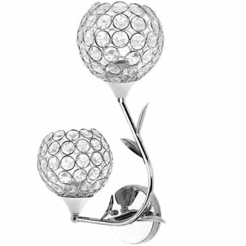 STOEX Moderne Einfache Wandleuchte Kristall Wandlampe LED 2 Lampenfassung