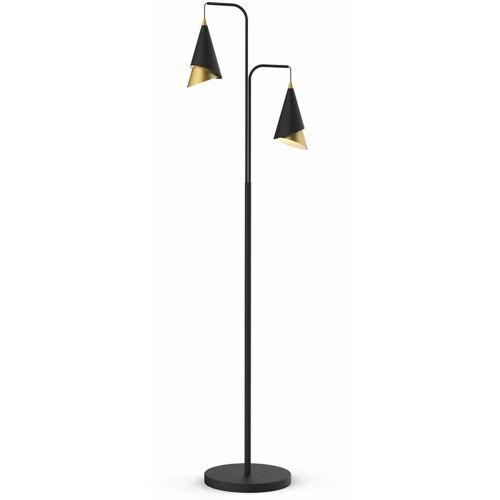 11-ITALUX Moderne Stehlampe Raalto Schwarz, Gold