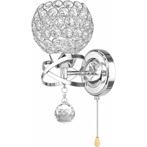 STOEX Moderne Wandleuchte Kristall Wandleuchte Halter mit Power Pull Schalter
