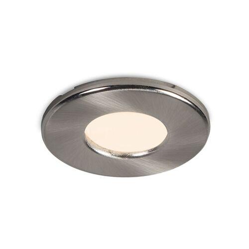 QAZQA Moderner runder Einbauspot weiß IP44 - Loch