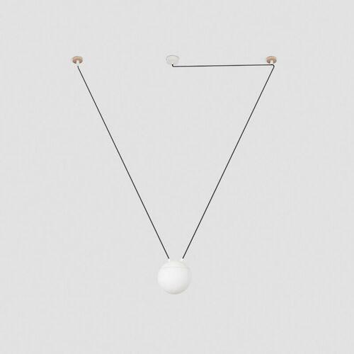 08-faro - Meine weiße Pendelleuchte 1 Glühbirne