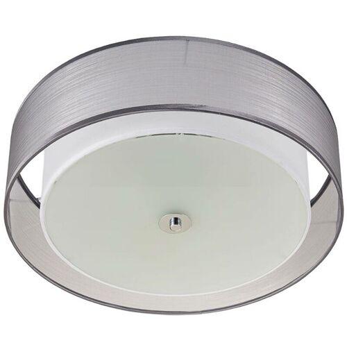 LINDBY Per Schalter dimmbare LED-Deckenlampe Tobia, grau