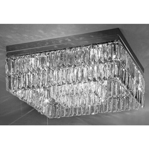 14-KOLARZ PRISMA Kristall Design Deckenleuchte Chrom 16 Lampen