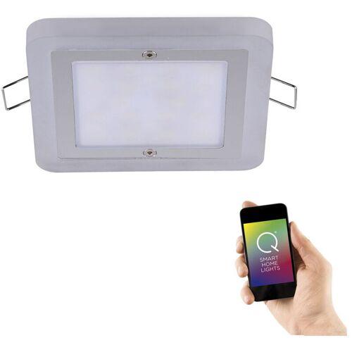 Q-Smart LED Einbaustrahler Q-Vidal RGBW in chrom eckig 100 x 100 mm