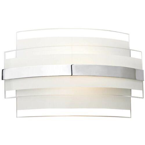 10-DAR LIGHTING Randwandleuchte weiß und Opalglas 1 Leuchte