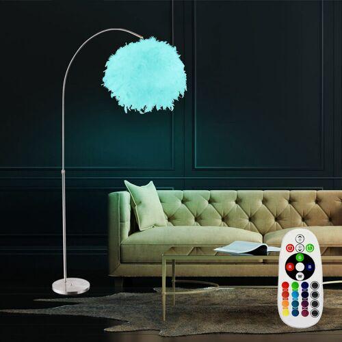 Etc-shop - LED Stehlampe Bogenleuchte mit Feder-Lampenschirm und