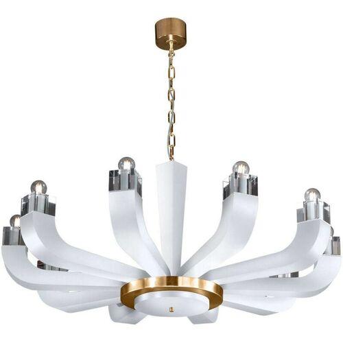14-KOLARZ RIVIERA Kerzenhalter weiß 10 Glühbirnen