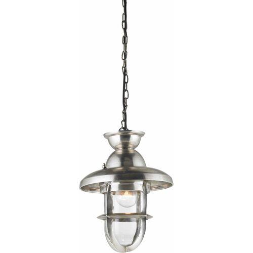04-ENDON Rowling Anhänger, angelaufenes Silber und Glas, 24 cm