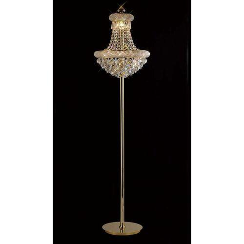 09-diyas - Stehlampe Alexetra 8 Glühbirnen Gold / Kristall