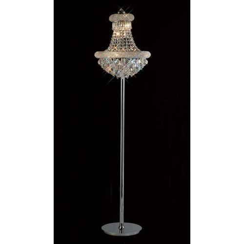 09-DIYAS Stehlampe Alexetra 8 Lampen Chrom / Kristall poliert