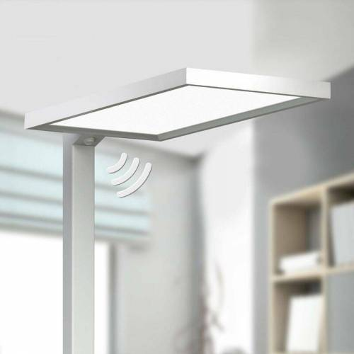 ARCCHIO Silberne Büro-LED-Stehlampe Dorean