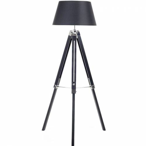 Beliani - Stehlampe in skandinavischem Stil Polybaumwolle/Holz rund