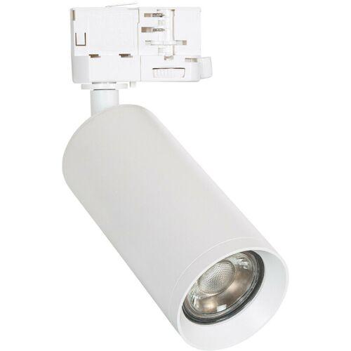 LEDKIA Strahler für GU10 Glühbirne für 3-Phasenstromschienen Quartz Weiß