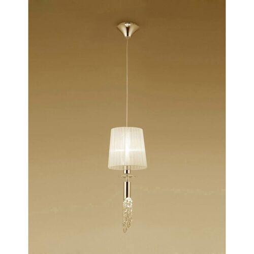 09-diyas - Tiffany Pendelleuchte 1 + 1 Lampe E27 + G9, Gold mit