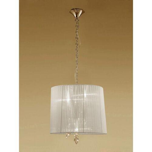 09-diyas - Tiffany Pendelleuchte 3 + 3 Lampen E14 + G9, golden mit