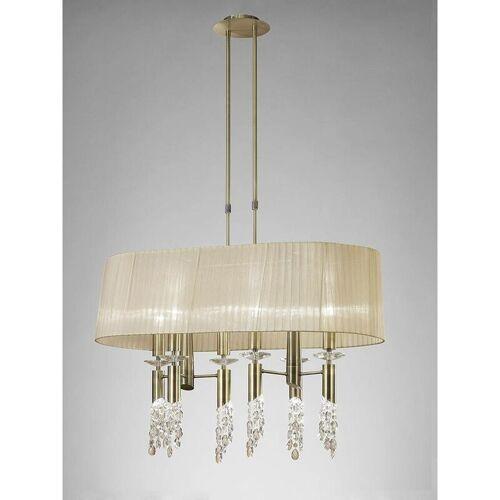 09-diyas - Tiffany Pendelleuchte 6 + 6 E27 + G9 Lampen oval, antikes