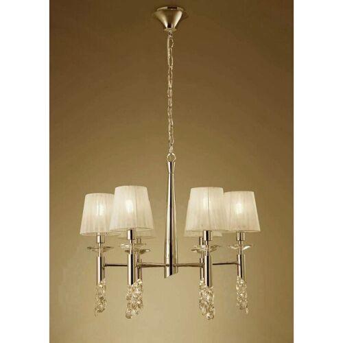 09-diyas - Tiffany Pendelleuchte 6 + 6 Lampen E14 + G9, Gold mit