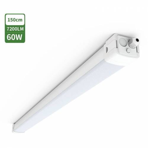 Tonffi LED Feuchtraumleuchte Feuchtraumlampe 150cm 60W mit 7200LM