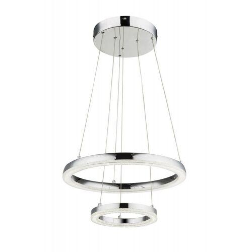 GLOBO Moderne LED Chrom Hänge Leuchte Wohn Zimmer Beleuchtung K5 Kristalle