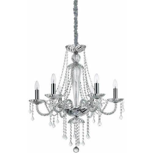 01-IDEAL LUX Transparenter Kristallanhänger AMADEUS 6 Glühbirnen