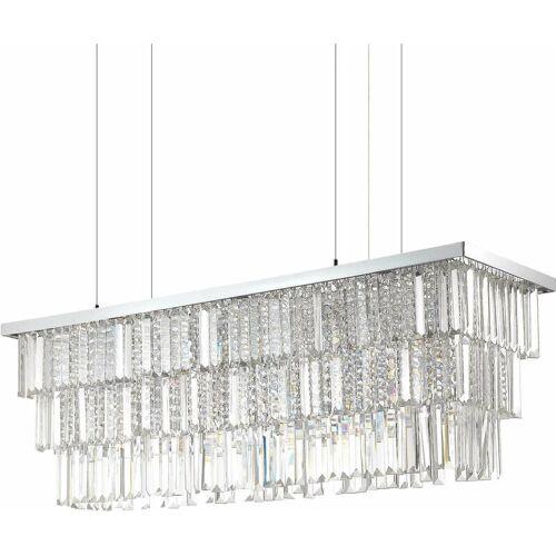 01-IDEAL LUX Verchromter Kristallanhänger MARTINEZ 8 Glühbirnen
