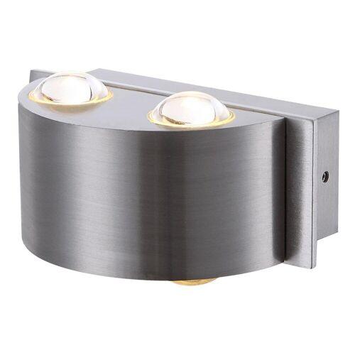 GLOBO 4 Watt Außen Wand Beleuchtung LED Aluminium Glas klar Balkon Terrasse