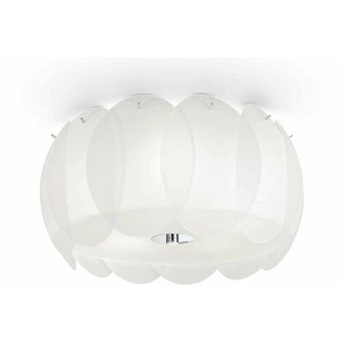 01-ideal Lux - Weiße Deckenleuchte OVALINO 5 Lampen