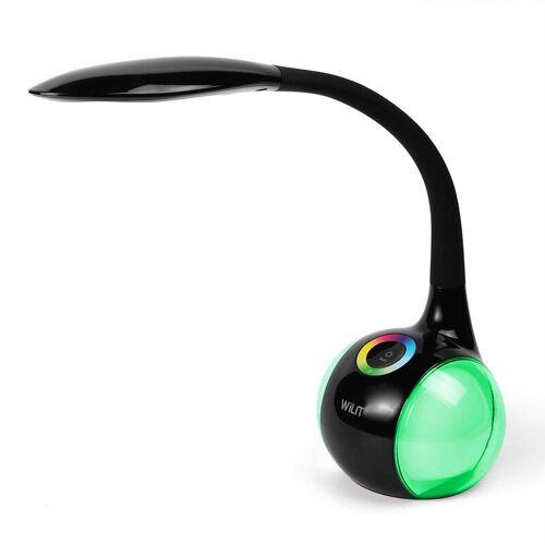 WILIT T3 5W Dimmbare LED Schreibtischlampe mit Schwanenhals und