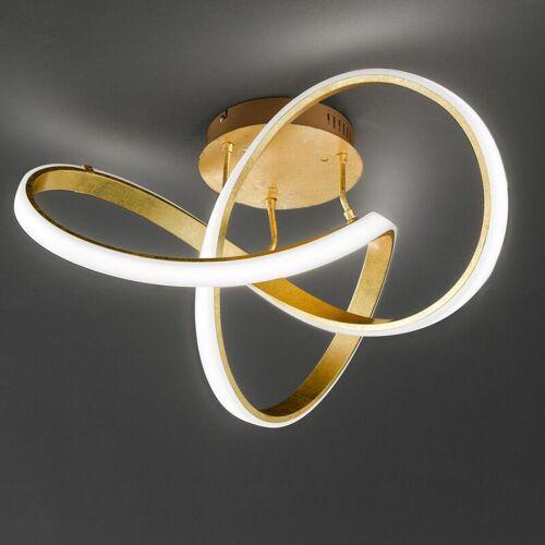 WOFI Dimmbare LED Deckenleuchte Indigo in gold