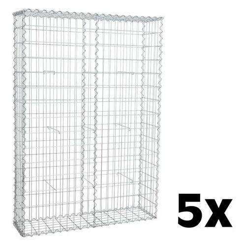 Estexo - Gabione Steinkorb Steingabione 5x 150x100x30cm Drahtkorb Mauer